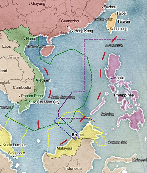 Map Of Asia Seas.Disputed Waters Conflict And Diplomacy On The High Seas Europe