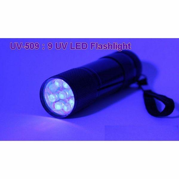 Golden Gadgets Ultraviolet Uv 9 Led Pocket Flashlight Runs On 3