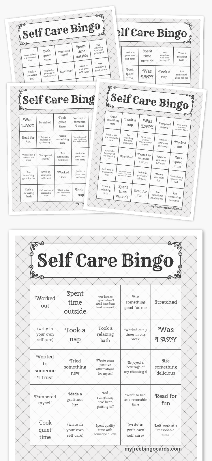 Self Care Bingo So excited to roll this out to my staff