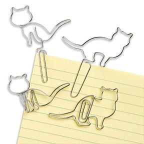 These Cat Paper Clips Set keeps you organized