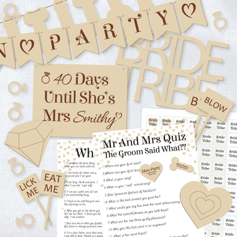 Mr Mrs Questions For Hen Do: Details About Bride Tribe Hen Night Out Bachelorette Party