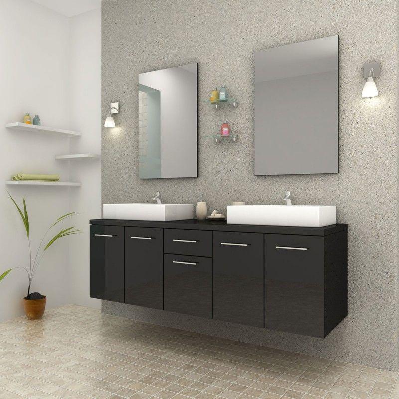 Ensemble de salle de bain Olga noir brillant | Intérieur et Design ...