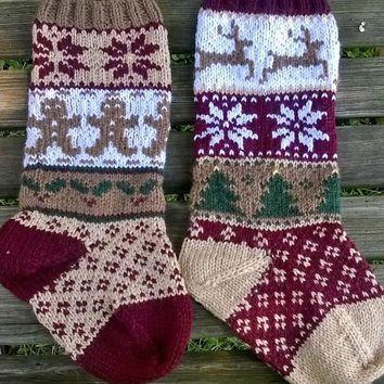 Christmas Stocking Knitting Pattern Fair Isle Google Search
