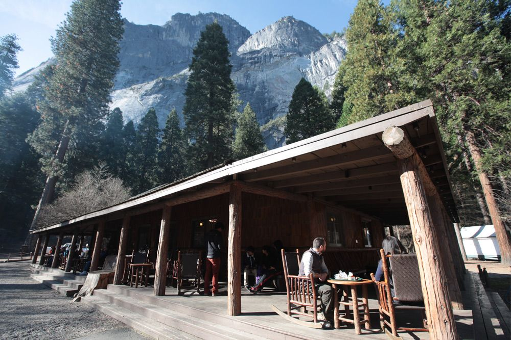 Curry Village in Yosemite National Park CA