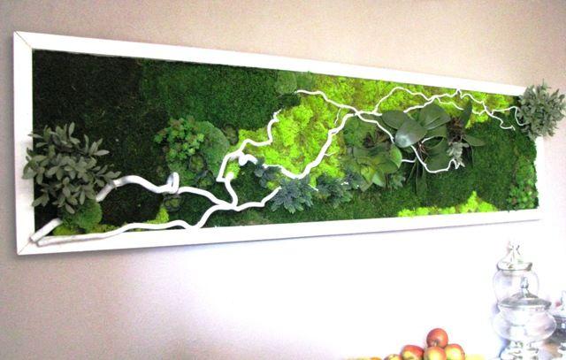 mur et cadres v g taux les p 39 tites fleuristes artisan cr ateur toulouse moss panel. Black Bedroom Furniture Sets. Home Design Ideas
