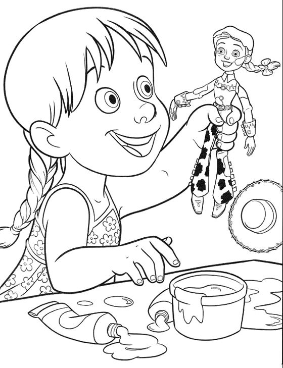 Jessie Toy Story And Kids Coloring Pages Disney Coloring Pages Toy Story Coloring Pages Coloring Pages