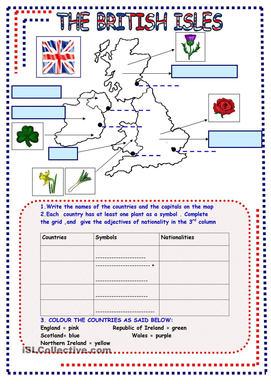 The British Isles Apprendre L Anglais Cours Anglais Anglais 6eme