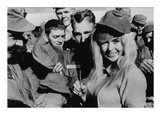 Image result for Jayne Mansfield with American troops