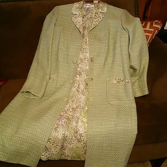 Coat Beautiful tweed like silk lined top coat bloomingdale's  Jackets & Coats