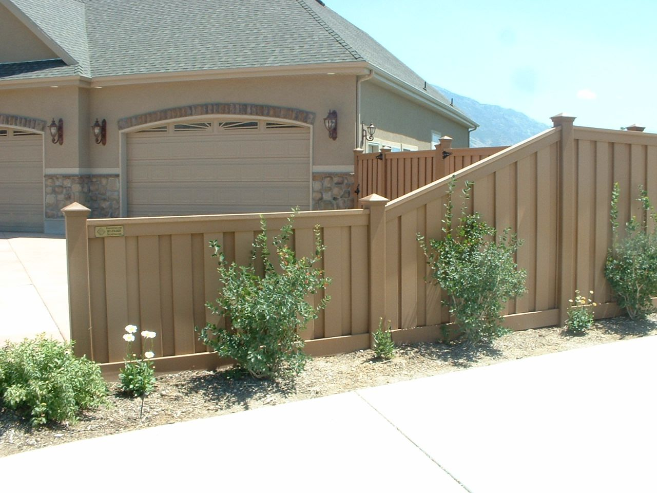 Fence height transition traditional privacy fences pinterest height transition with trex fencing composite material stronger than wood vinyl or other composite materials lets not forget that its virtually baanklon Gallery