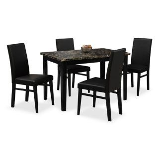 Stupendous Shadow Dining Table Black Value City Furniture Dining Ibusinesslaw Wood Chair Design Ideas Ibusinesslaworg