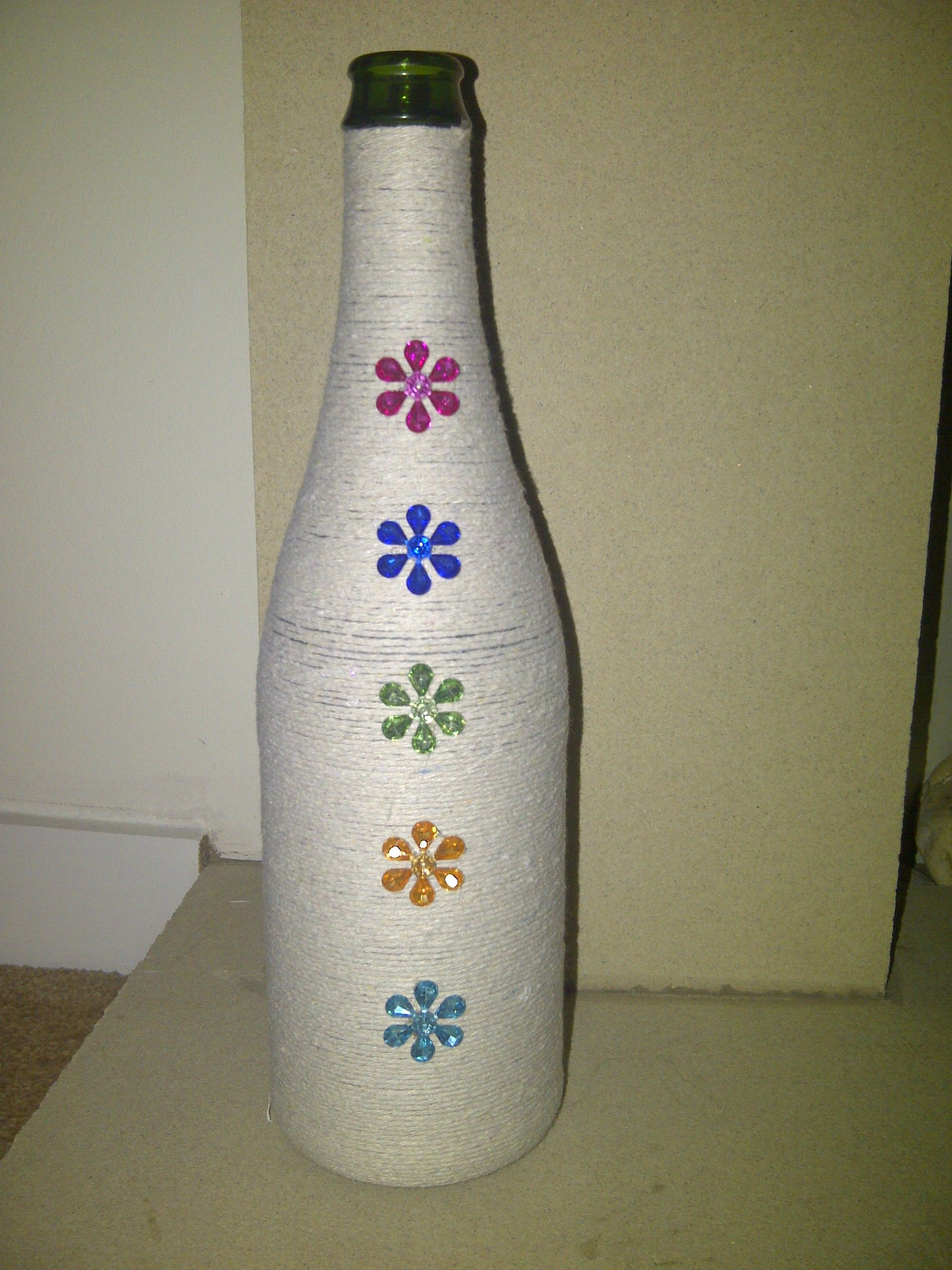 Sparkle chic yute wound bottle a fab centre piece