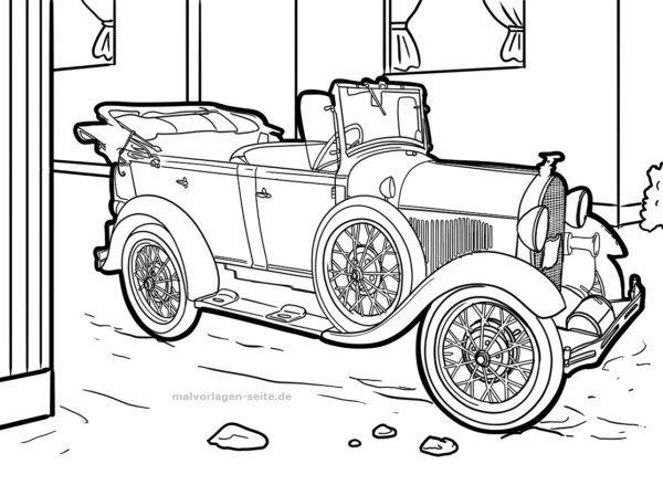 Malvorlage Ausmalbild Oldtimer Auto Kostenlose Malvorlagen Ausmalbilder Free Coloring Pages For Kids