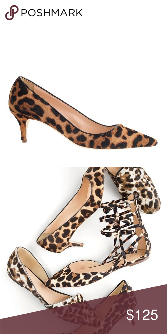 5d2ad4f2d7ca J. Crew collection Dulci Kitten Heels Leopard Light scuffing on the bottom  (as shown in photos) - very gently worn