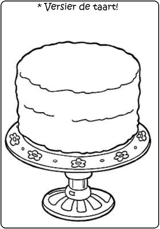 versier de taart kleurplaten disney kleurplaten