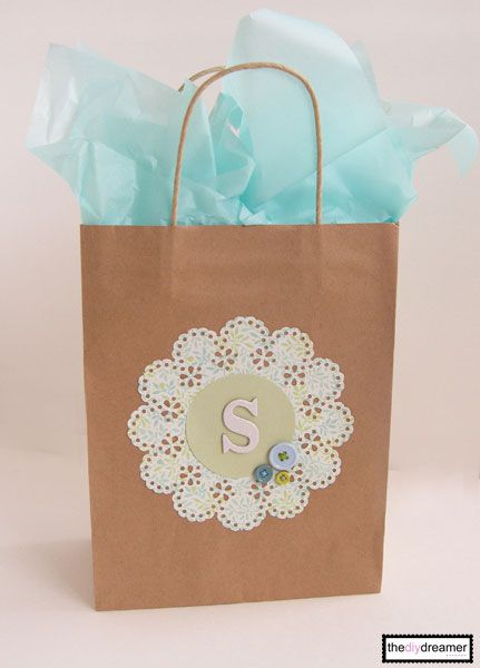 Craft Paper Personalized Gift Bag - The D.I.Y. Dreamer