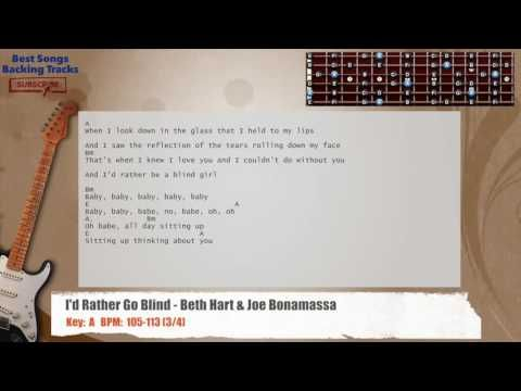 I\'d Rather Go Blind - Beth Hart & Joe Bonamassa Guitar Backing Track ...