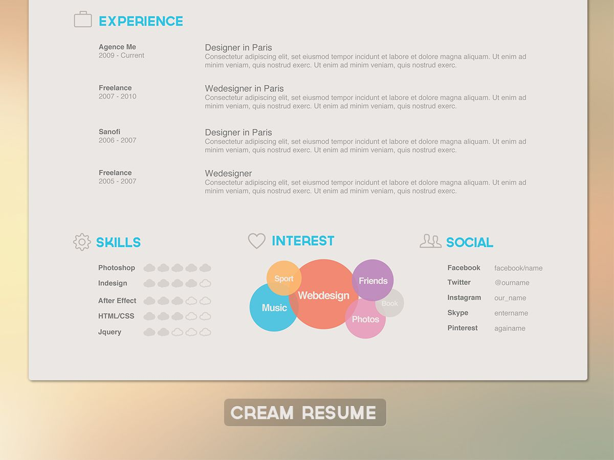 Resume | collage | Pinterest | Curriculums