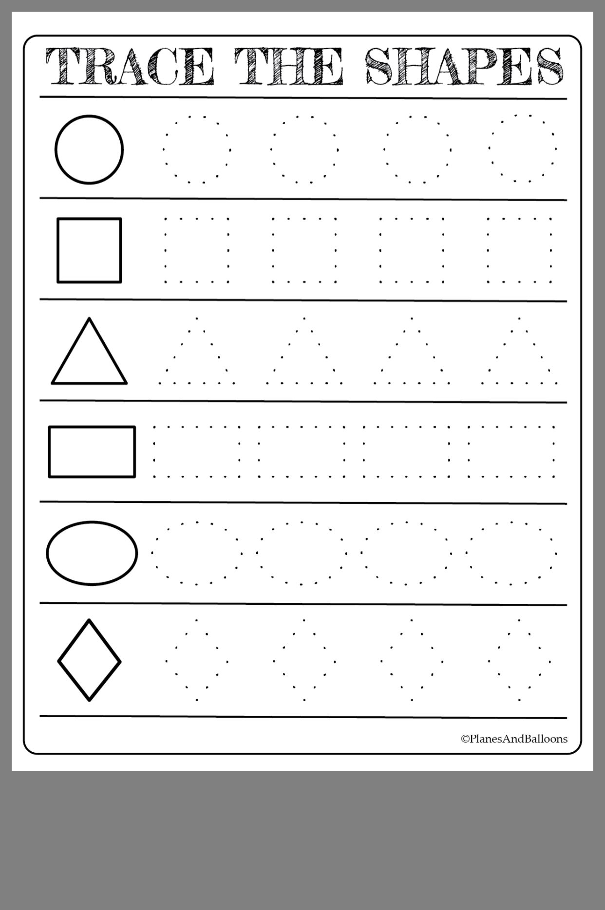 - Free Printable Shapes Worksheets For Toddlers And Preschoolers