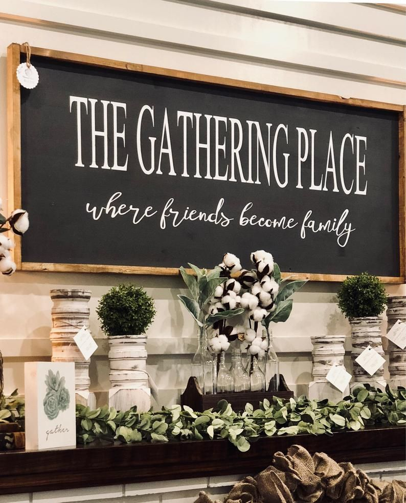 The Gathering Place Sign / Large Sign / The Gathering