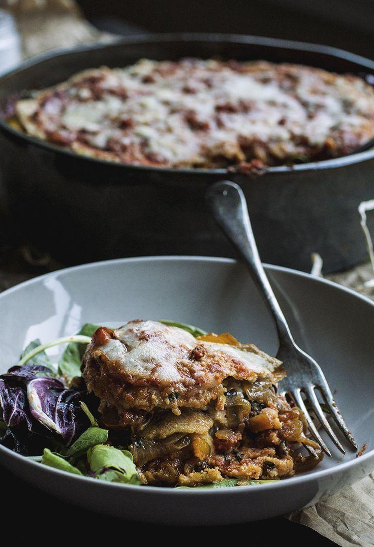 Vegetarian Quinoa Lasagna // The Pancake Princess - -