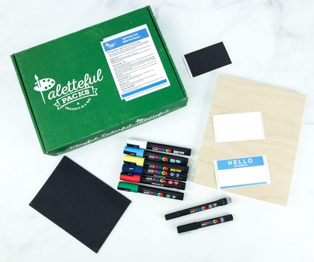 Paletteful Packs Kids art supplies, Text art, Paint markers