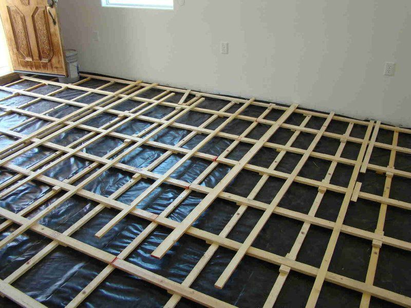 Picture Of Finishing The Lattice And Sub Flooring Portable Dance Floor Flooring Dance Floor