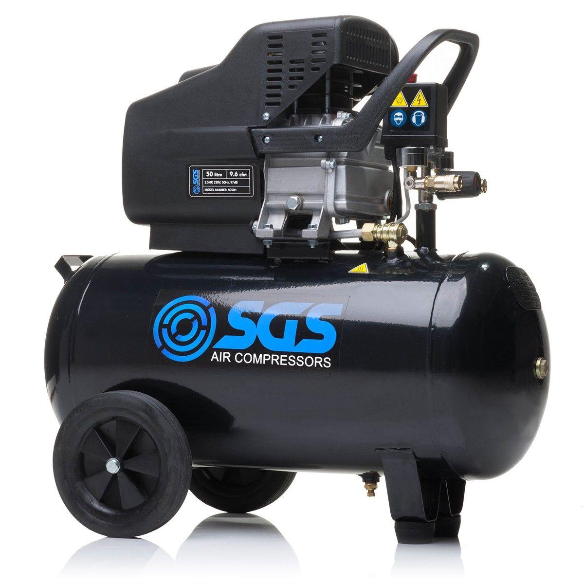 SGS 50 Litre Direct Drive Air Compressor 9.6CFM, 2.5HP
