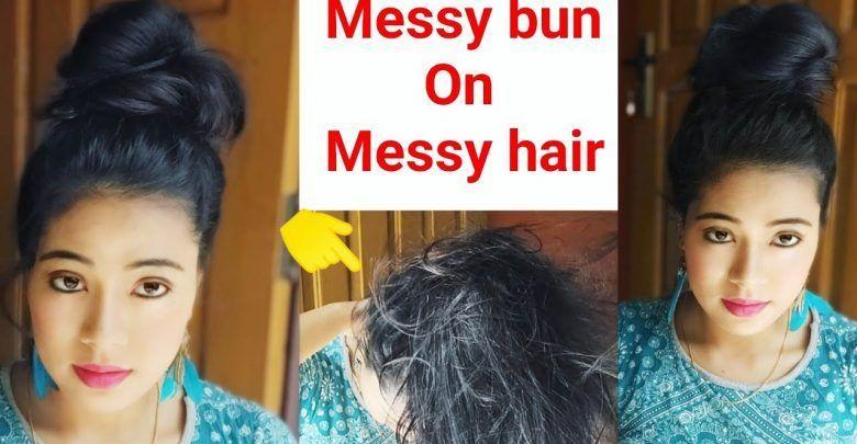 Messy Bun On Messy Hair Cute Juda Hairstyle Juda Kaise Banaye Cute Hairstyle Hairstyleskaisebanaye Messy Hairstyles Hair Styles Hair