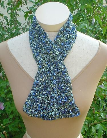 Cool Scarf Pattern With Quot Ladder Yarn Quot Knitting Patterns
