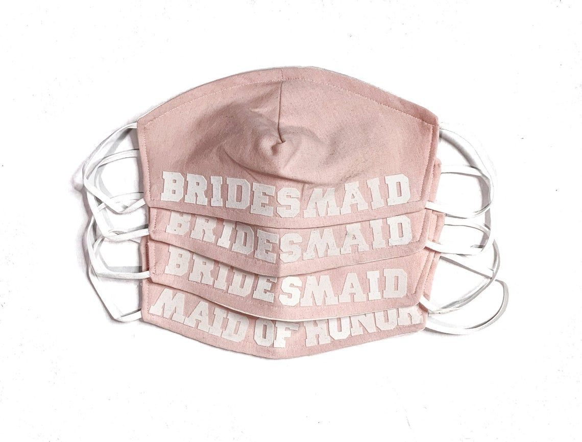 8 Best Bridal Party Face Masks From Etsy | Intimate ...