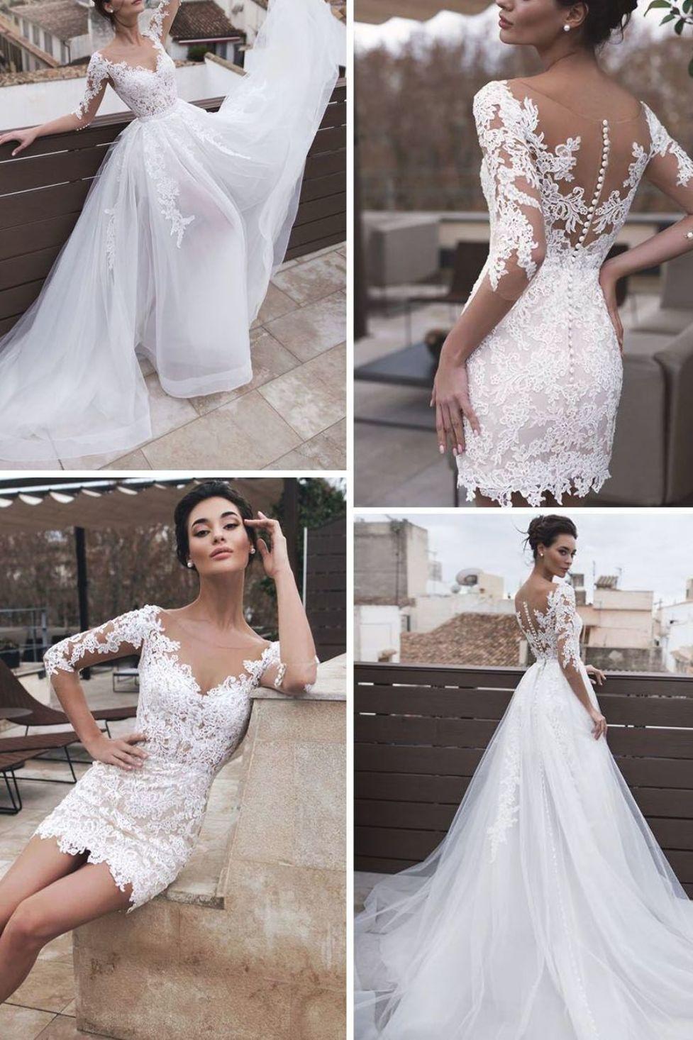 Marvelous Tulle & Organza Jewel Neckline 20 In 20 Wedding Dresses ...