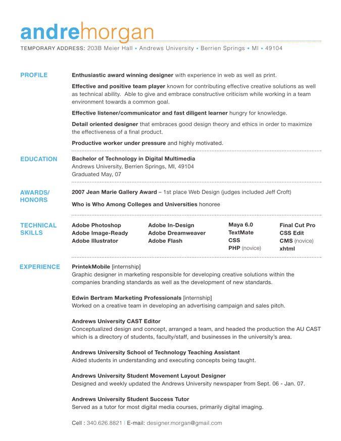 36 Beautiful Resume Ideas That Work  Resumes  Resume Resume examples Job resume
