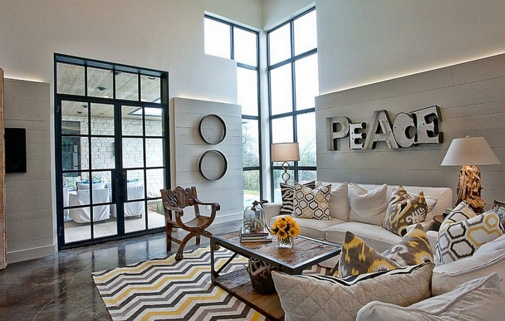 Decorating Ideas Eclectic Living Room Design With Chevron Accents