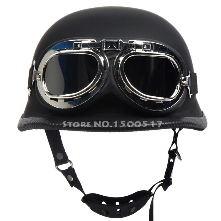 80bbb21c9 Barato Segunda guerra mundial alemão Capacete Vintage Moto Casco Capacete  Motocicleta Capacete Cruiser meio Capacete com