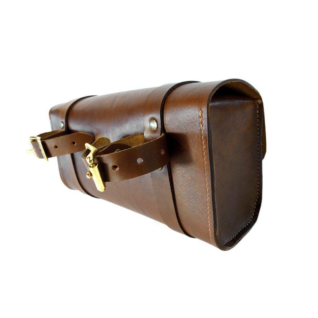 Handlebar Tool Bag Walnut Leather