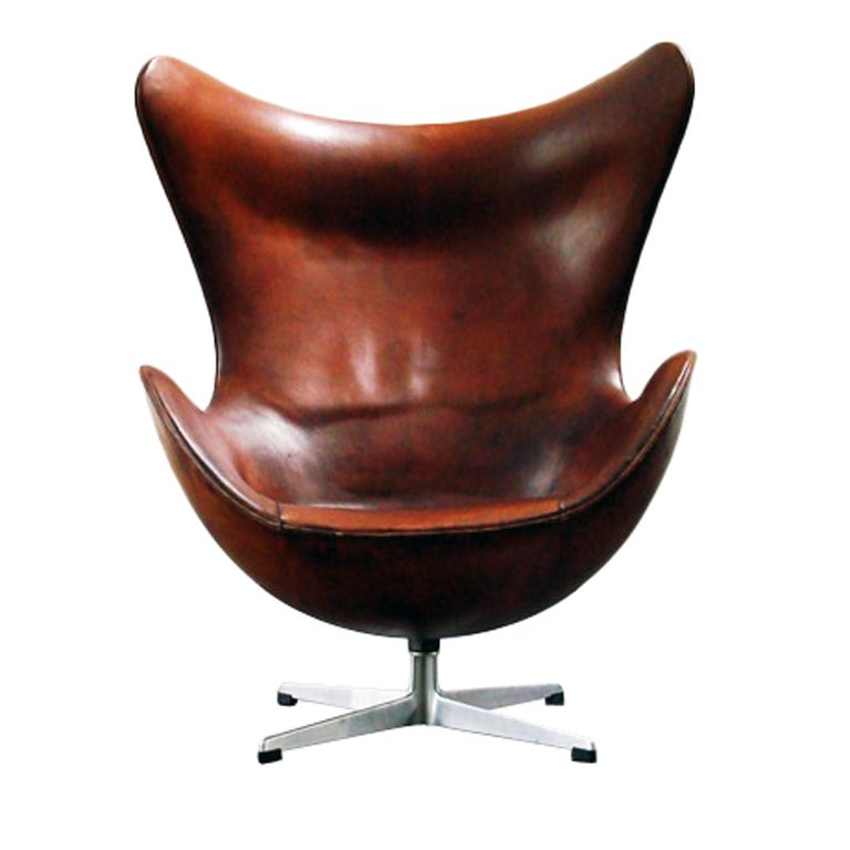 Jacobsen Egg Chair Leather Vintage Styles 1stdibs Arne First Production 1958 To 1960 Stamped