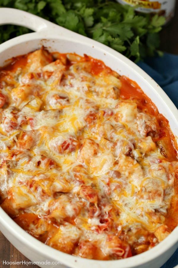 Cheesy Mexican Potatoes - Hoosier Homemade