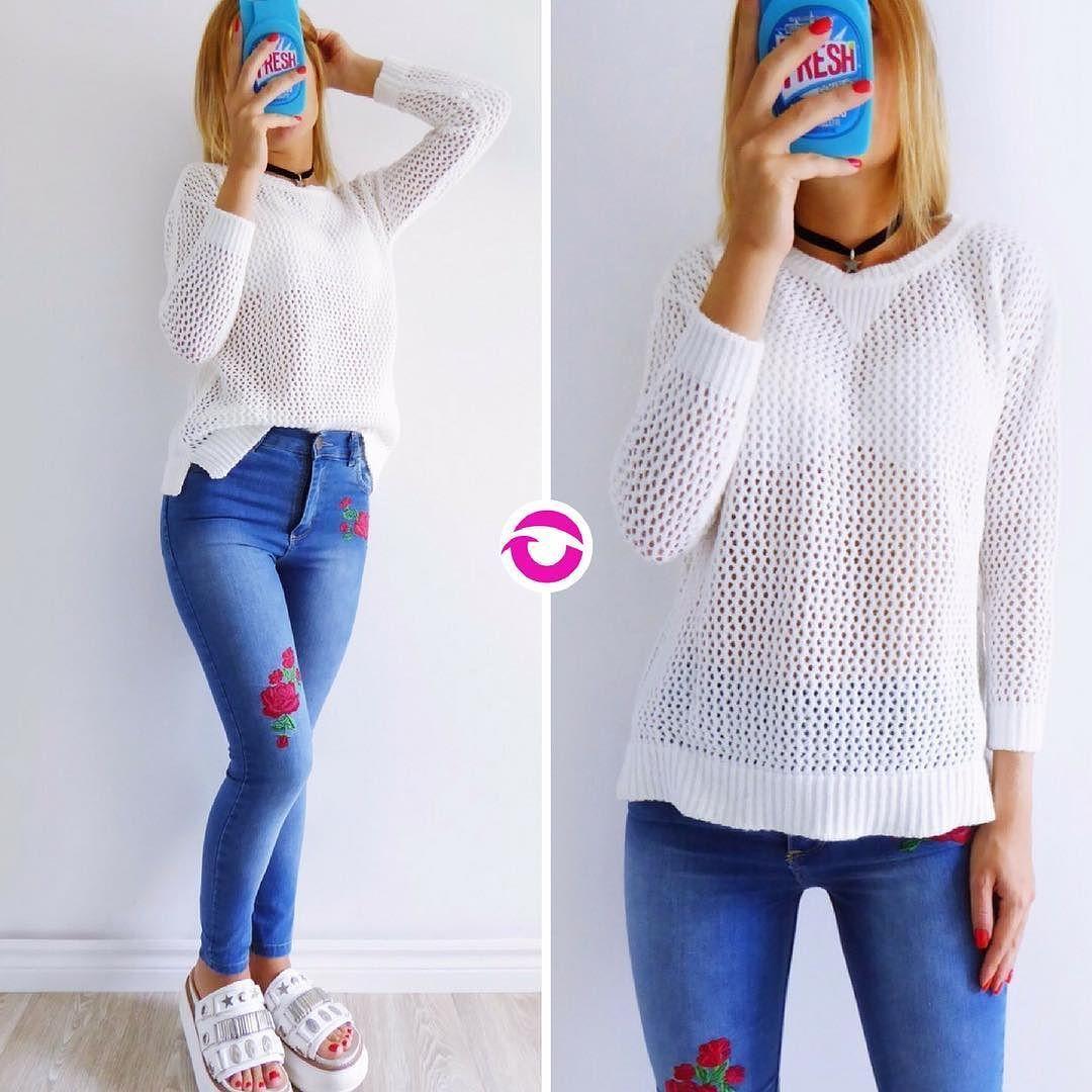 NEWWW SWEATER CALADO $620 Pura lana abrigadito calado largo standard amplio  JEAN ROSE BORDADO $700 Tiro alto elastizado azul localizado rosas bordadas. Local Belgrano Envíos Efectivo y tarjetas Tienda Online www.oyuelito.com.ar #followme #oyuelitostore #stylish #styles #fashion #model #fashionista #fashionpost #ootd #moda #clothing #instafashion #trendy #chic #girl #trends #outfitoftheday #selfie #showroom #loveit #look #lookbook #inspirationoftheday #modafemenina #jean #jeans
