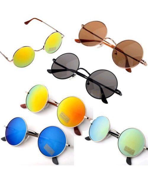 825eea0fbaaf4 Óculos de sol feminino redondo espelhado