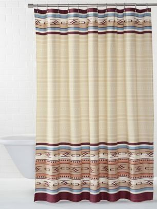 Embroidered Chimayo Shower Curtain Shower Curtain Curtains Shower