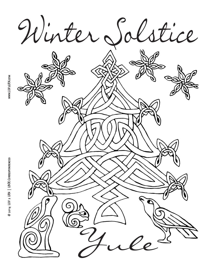 N H Count Down To Yule Printable Coloring Pages Coven Life Coloring Pages Winter Winter Solstice Yule Crafts