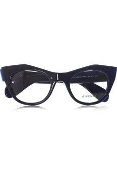 Givenchy - Angular cat eye acetate optical glasses
