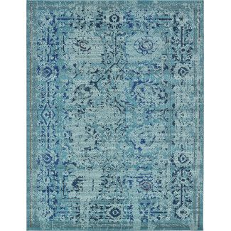 <strong>Unique Loom</strong> Barcelona Light Blue Area Rug