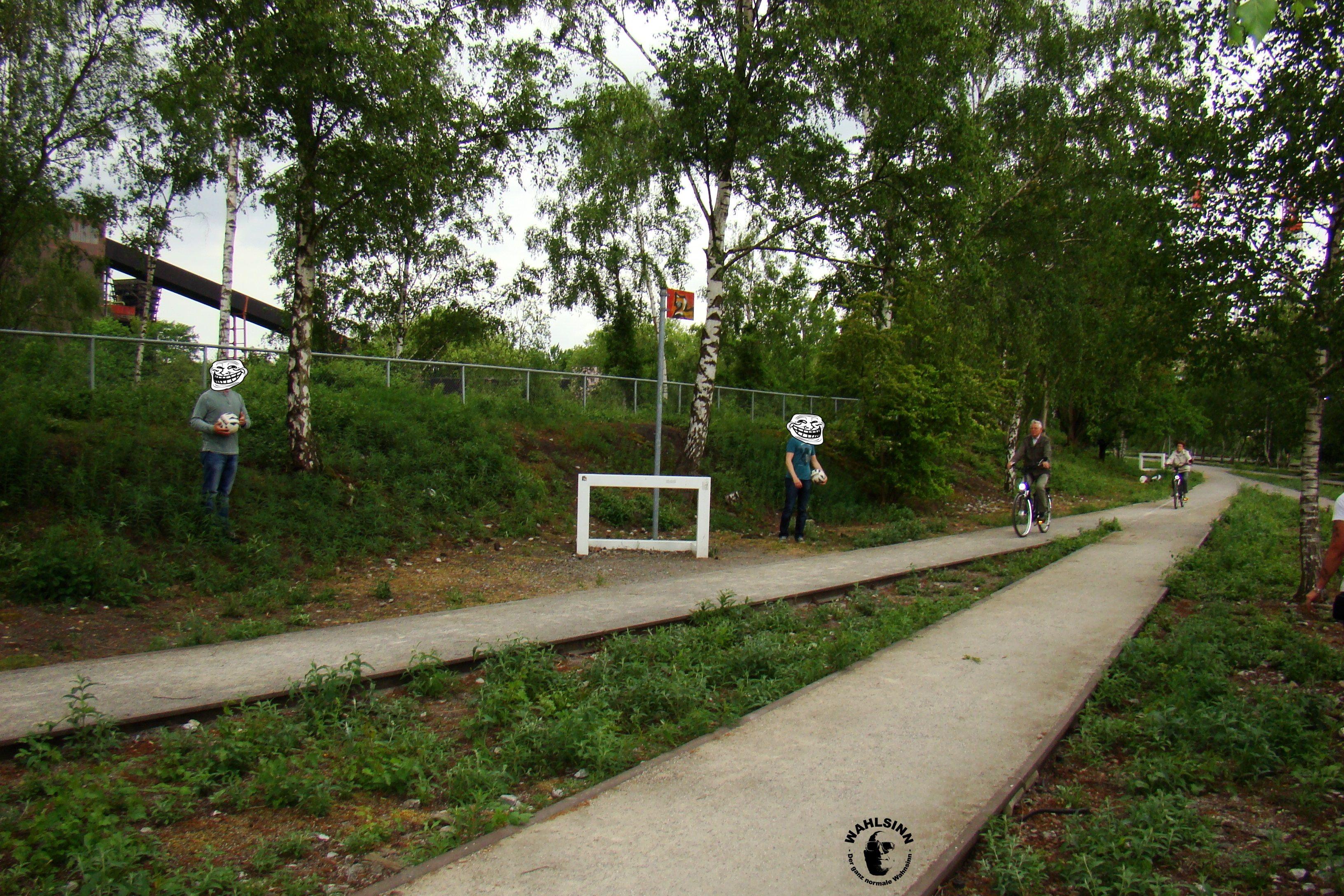 Fußballgolf - Das erste Ziel zum greifen nah