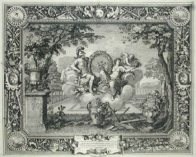 The Seasons: Spring, engraving after Charles LeBrun in ...