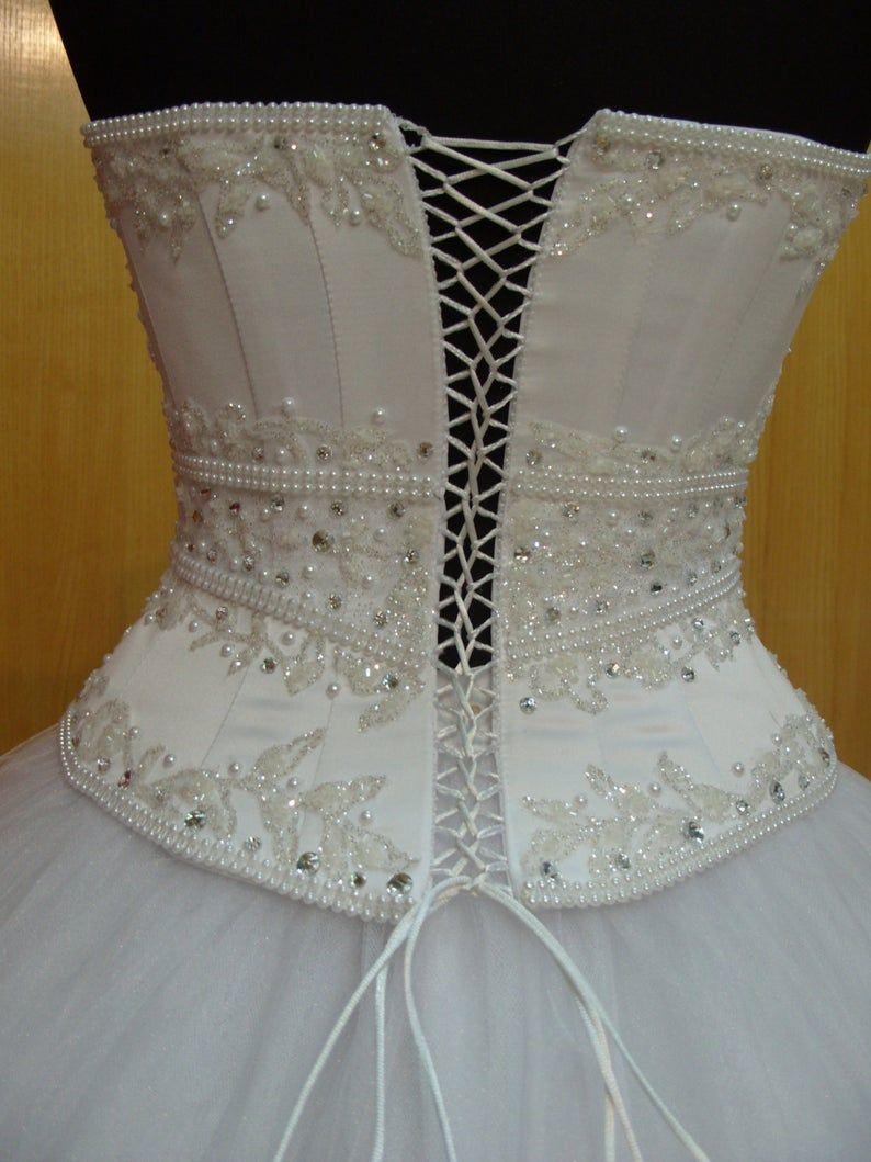Bridal Corset Wedding Dress Corset Top Bustier Sweetheart Etsy In 2020 Bridal Corset Wedding Dress Bustier Corset Dress