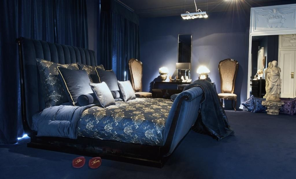 Pin By Versace Home Miami On Bedrooms Versace Home Blue Rooms