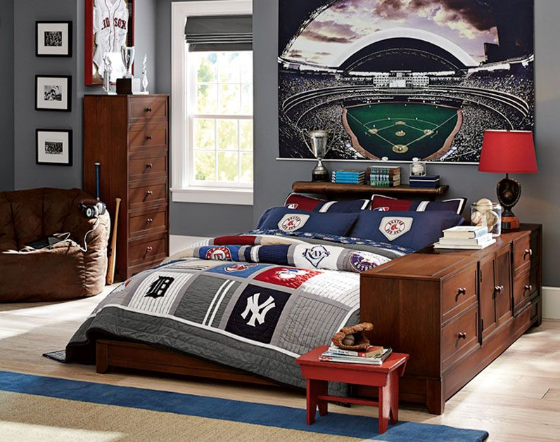 Teenage Guys Bedroom Ideas | Baseball Lover | PBteen