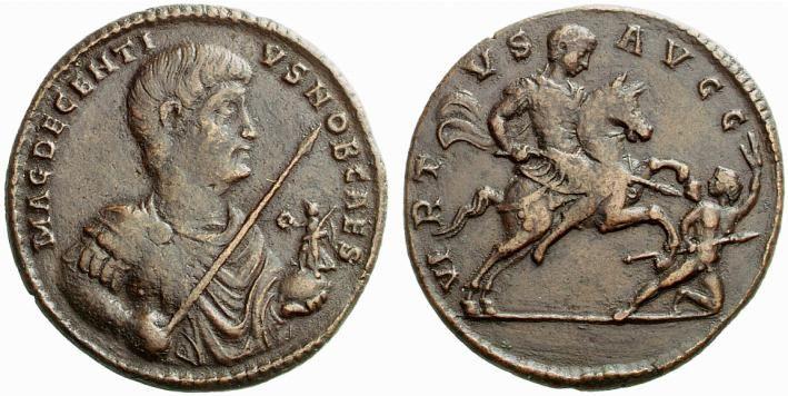 Decentius (351-353). Medallion...